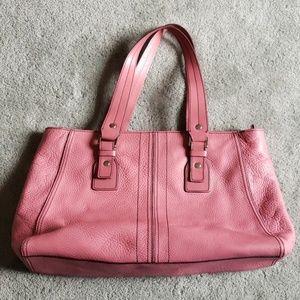 EUC Kenneth Cole pink leather handbag